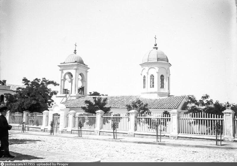 Историческое фото, Феодосийский Введенский храм более 100 лет назад