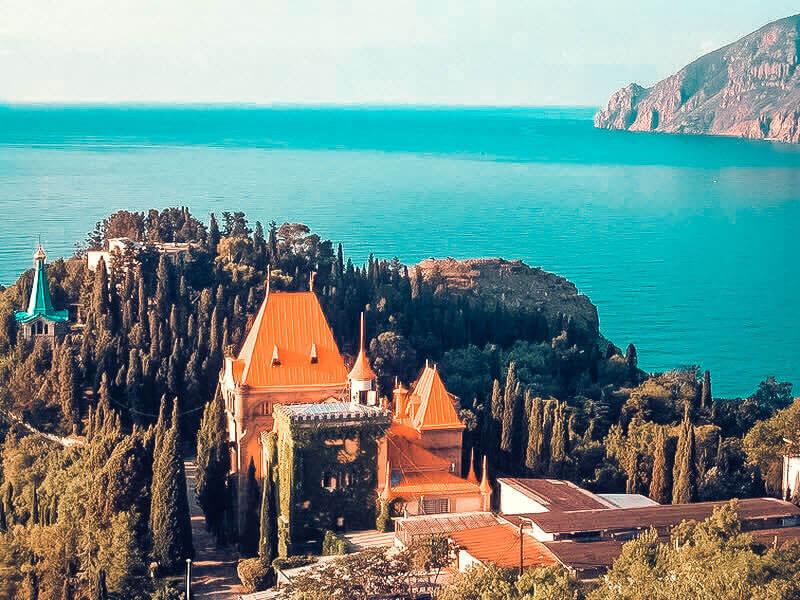 Вид на Дворец Княгини Гагариной