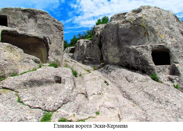 Главные ворота Эски-Кермен