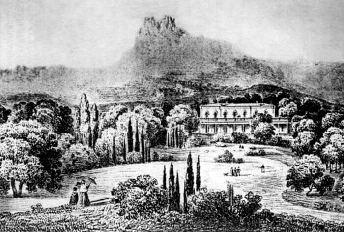 Историческое фото Мисхорского парка