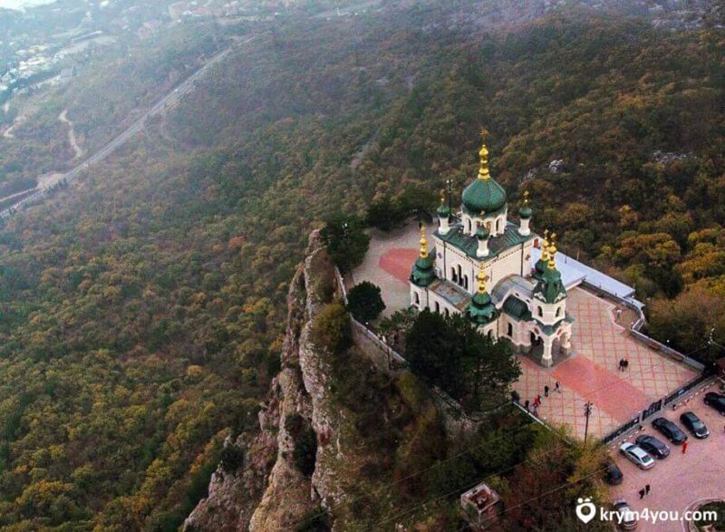 Форосский храм - вид сверху
