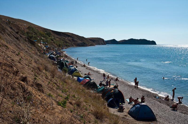 Пляж Тихой Бухты