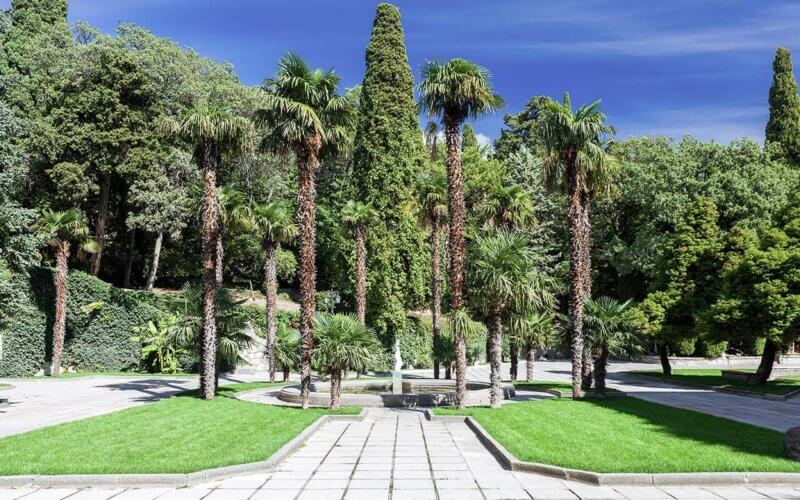 Дворец Дюльбер - фото парка при дворце
