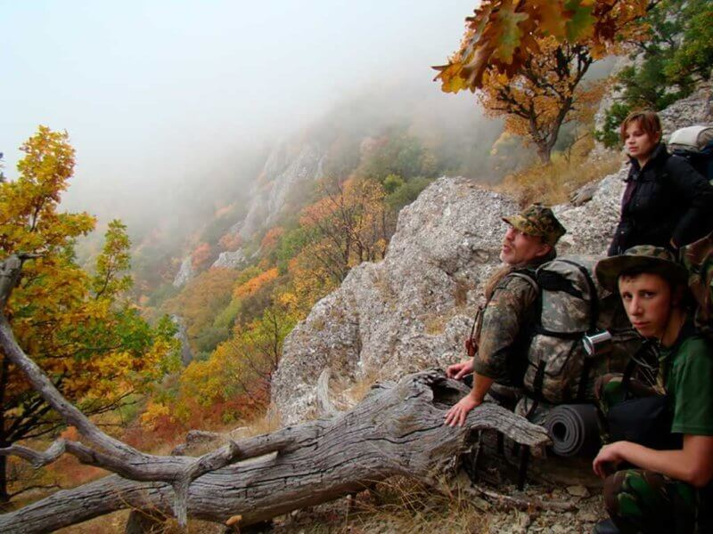 Поход в горы в октябре - Крым