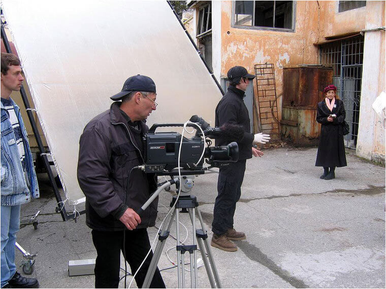 Съемки на Киностудии в Ялте