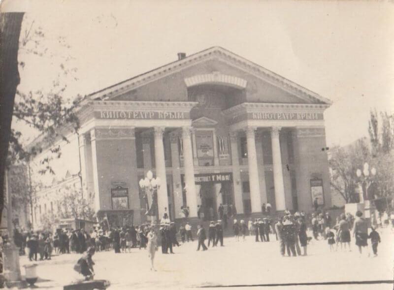 Историческое фото кинотеатра Крым в Феодосии