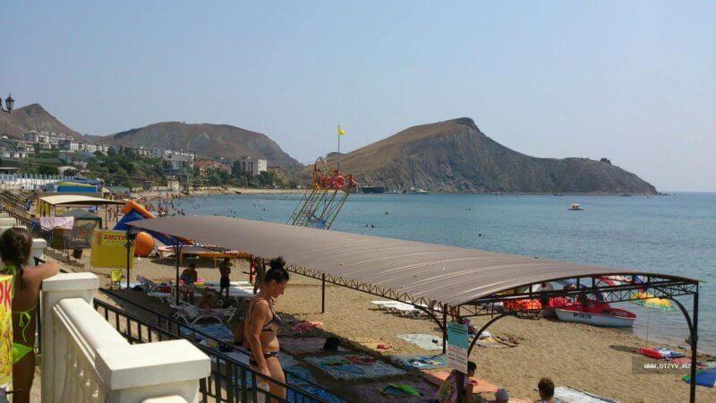 Фото пляжа поселка Орджоникидзе