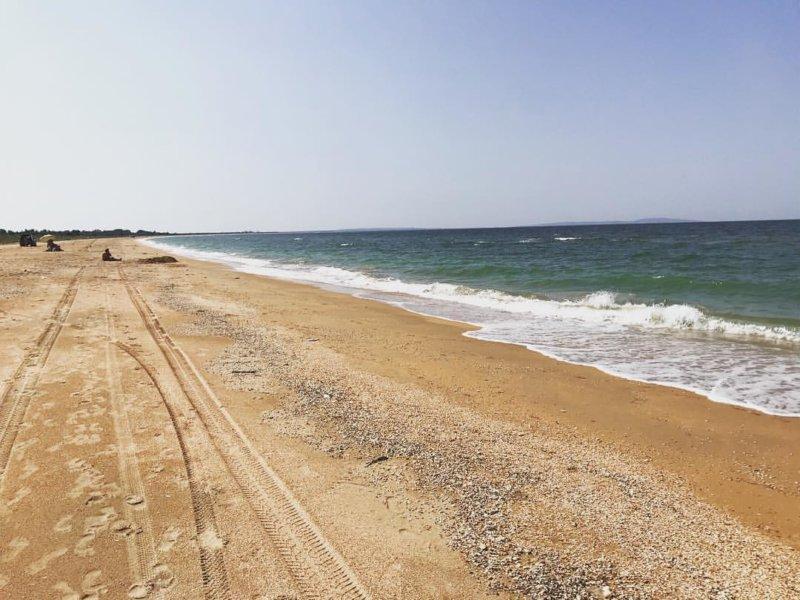 Песчаный пляж Мыса Казантип