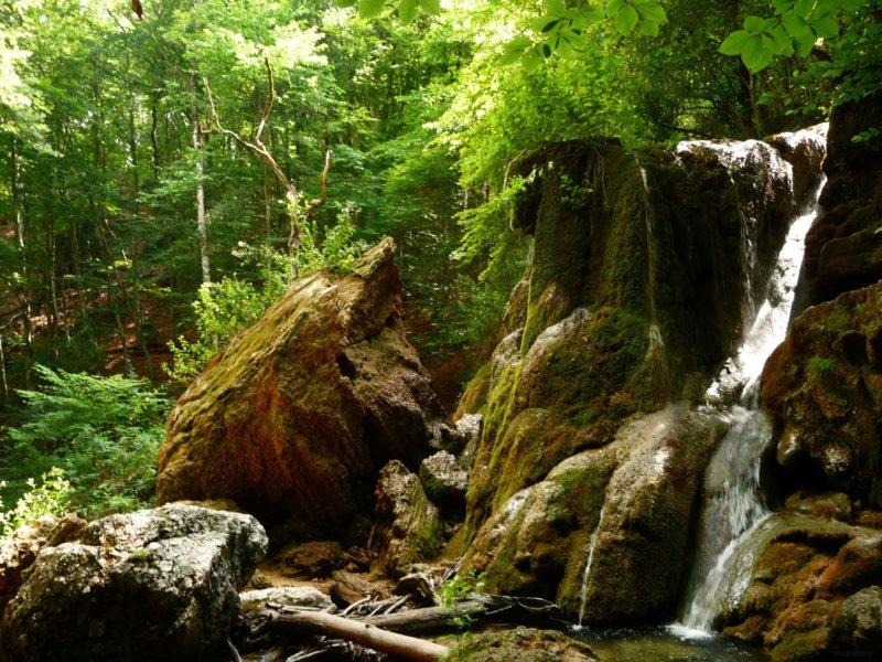 Вид на Водопад Серебряные струи
