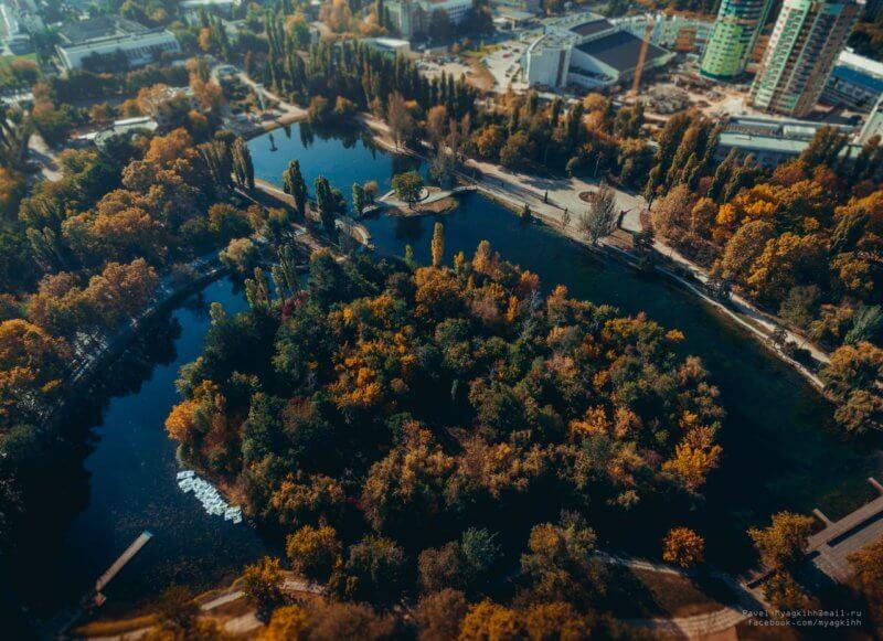 парк имени Юрия Гагарина - вид сверху