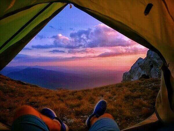 Вид на вершине горы Чатыр Даг (эклизи бурун).