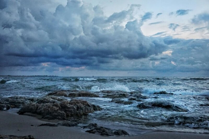 Фото из Караджинской бухты - шторм
