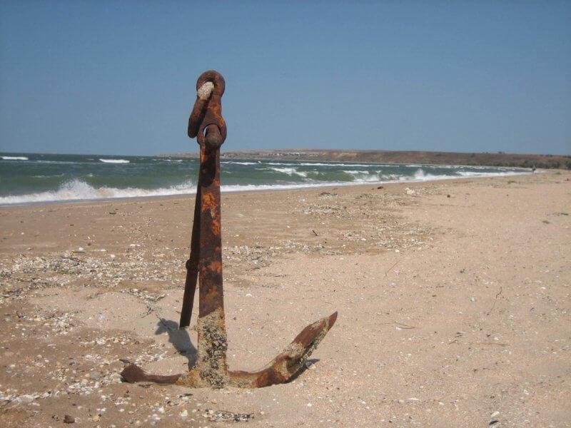 Пляж казантипского залива