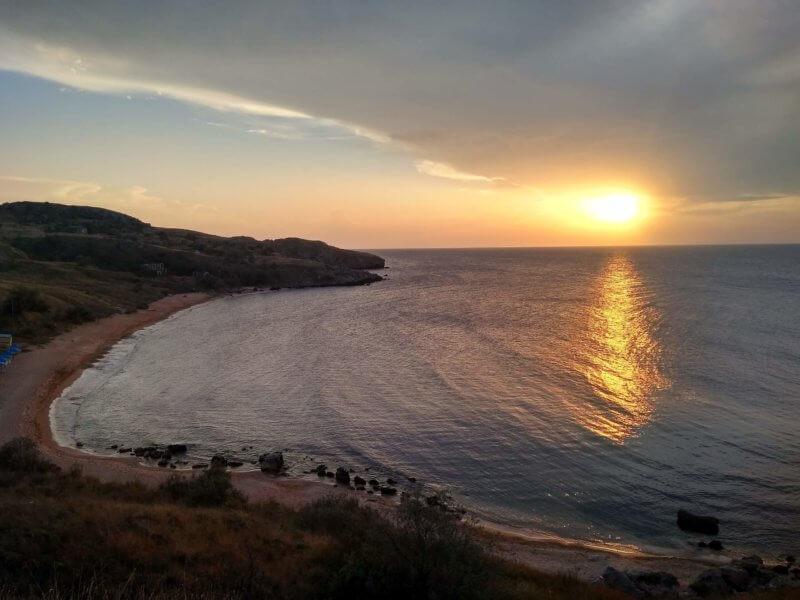Закат в казантипском заливе