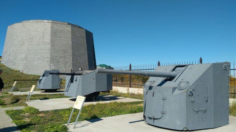 Бронебашни 35 батареи в Севастополе
