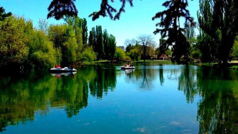 Пруд в Гагаринском парке