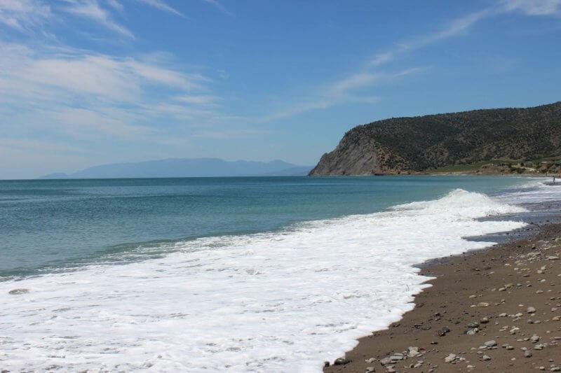 Веселовская бухта - пляж