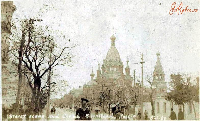 Покровский собор в Севастополе - историческое фото