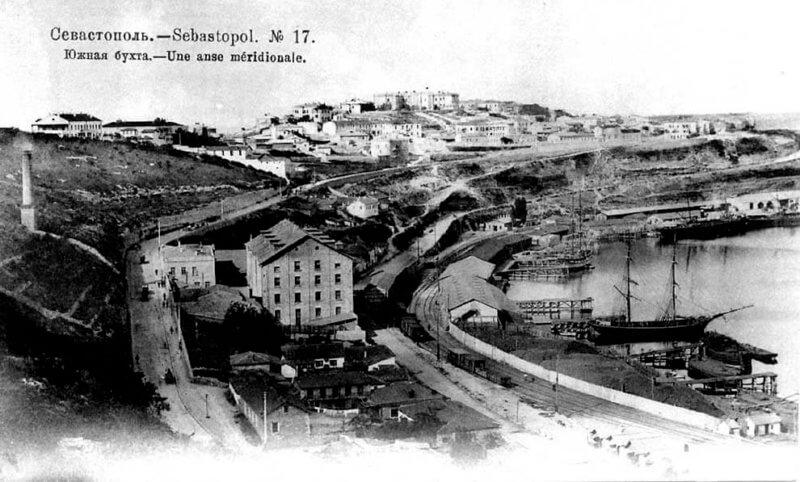 Историческое фото Севастопольской бухты