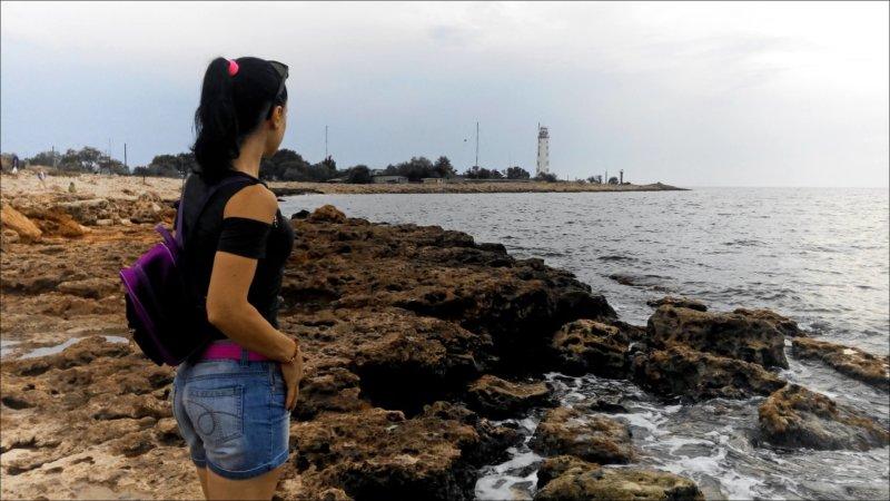 Вид на Тарханкутский маяк