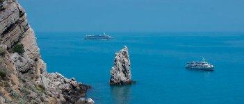 На фото Скала Парус - Крым