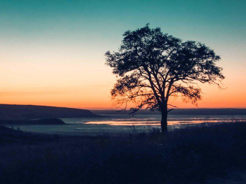 Закат на озеро Тобечик