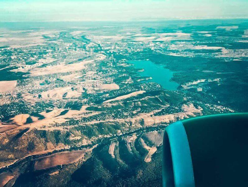 Вид на Симферопольское водохранилище - фото с неба