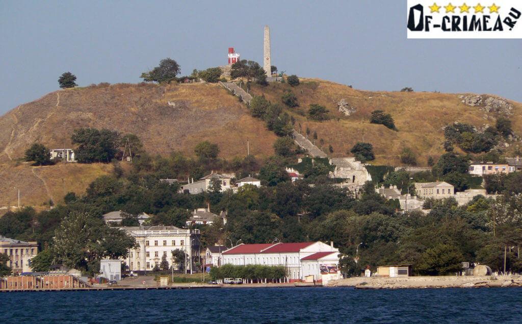 Гора Митридат - крупным планом.