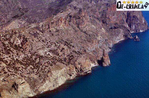 Вид на Вулкан Карадаг с неба