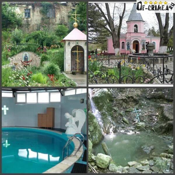Фото купели и целебные источники на территории Топловского монастыря