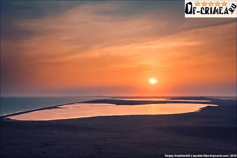 Кояшское озеро на закате