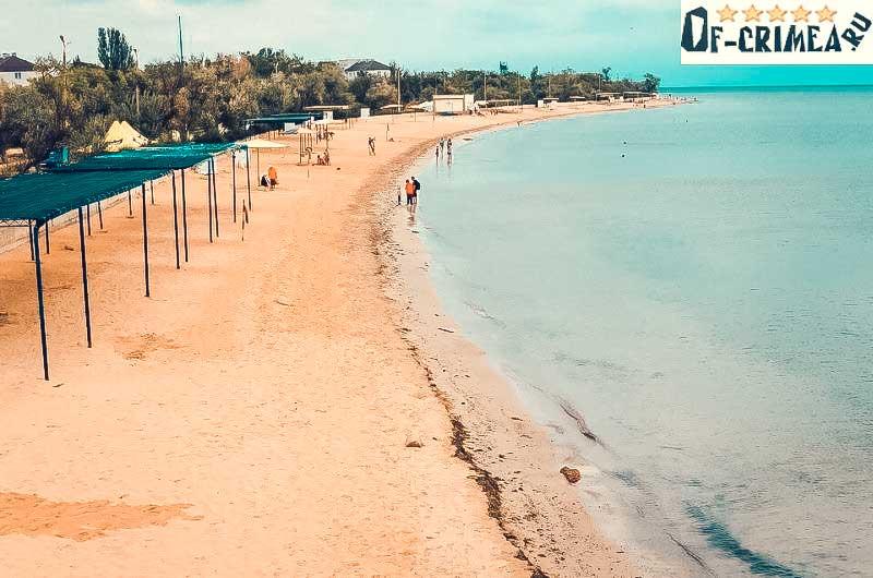 Фото пляжа в Заозерном