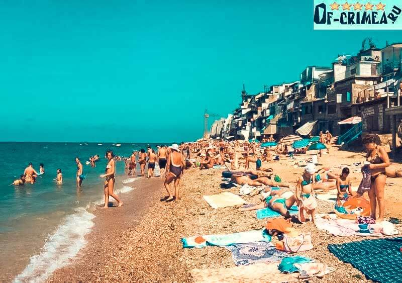Фото с пляжа поселок Кача, Крым