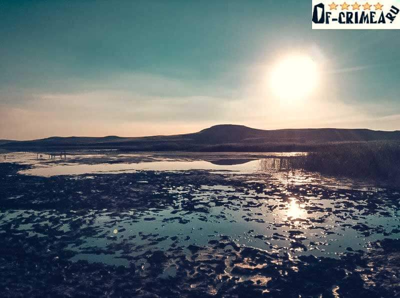 Озеро Чокрак - фото на закате