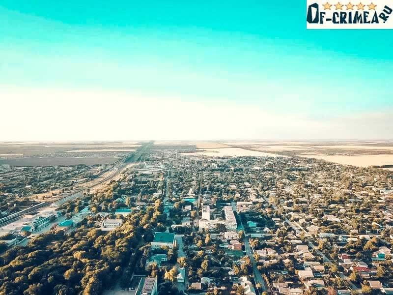 Красногвардейское Крым - вид на поселок