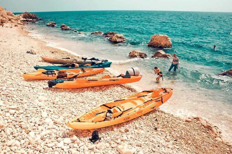 Каякинг по берегам Крыма